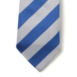 Striped Ties - Royal & White