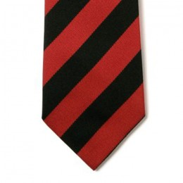 Striped Ties - Black & Red