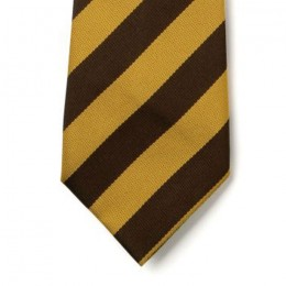 Striped Ties - Brown & Gold