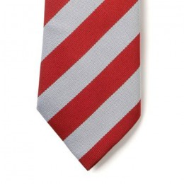 Striped Ties - Red & White