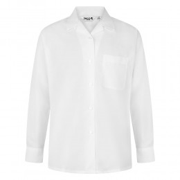 Long Sleeve, Non Iron Revere Collar Blouse - Twin Pack