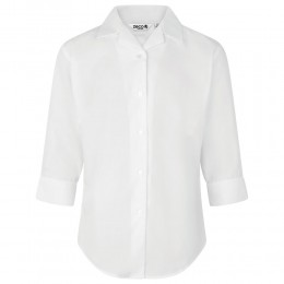 Fitted 3/4 Sleeve, Non Iron Revere Collar Blouse