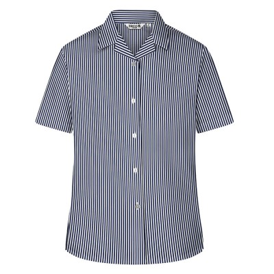 Printed Stripe Short Sleeve, Non Iron Revere Colla