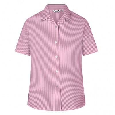 Woven Stripe Short Sleeve, Non Iron Revere Collar