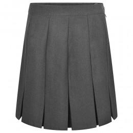 Stitched Down Box Pleat Skirt