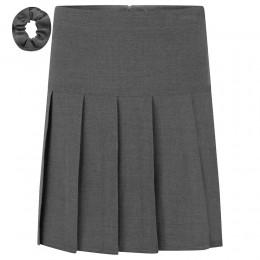 Stretch Pleated Skirt - Regular Length