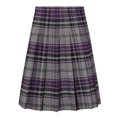 Tartan Stitch Down Pleat Skirt (MTO)