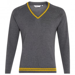 Striped 50/50 Knitted V-Neck Jumper (MTO)