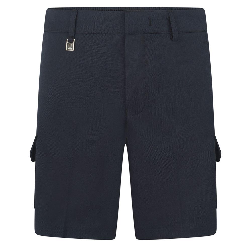 Boys Cargo Style Shorts School Uniform Half Elasticated Waist BS3077